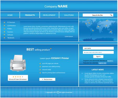 special website template Stock Vector - 8760669