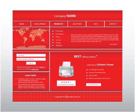Business website template in editable format  Vector