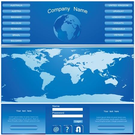 BLUE web site design template Stock Vector - 9137696