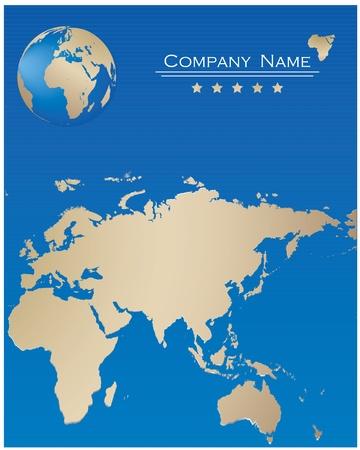 blue webpage design Stock Vector - 9137653