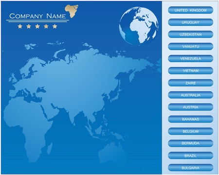 BLUE web site design template Stock Vector - 9137652