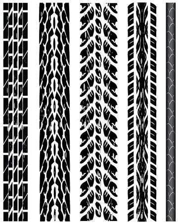 tire tracks Stock Vector - 9137554