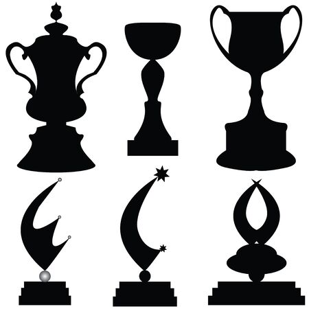 illustration of trophies Vector