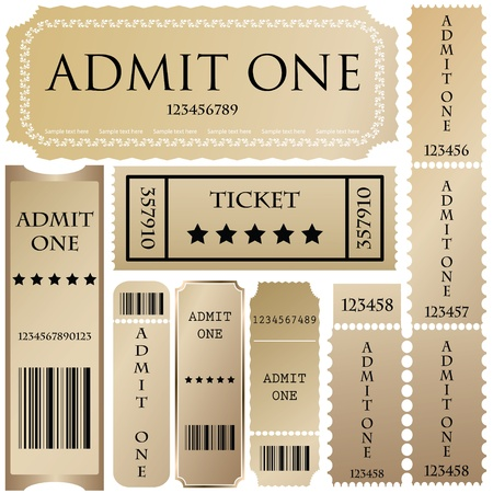 set: tickets in different styles Stock Vector - 9137449
