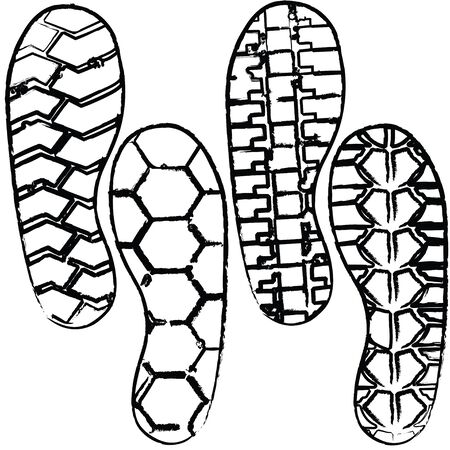 shoe print: various shoeprint Illustration