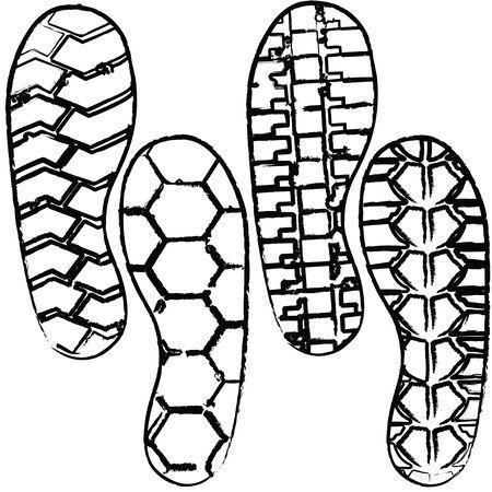 various shoeprint Stock Vector - 9083161