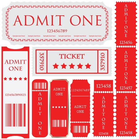 tickets in different styles Stock Vector - 9083157