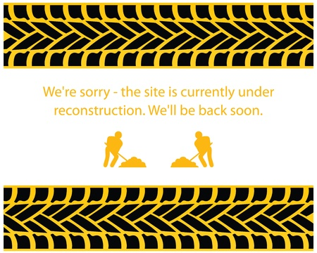 under construction sign with man: Under Construction Background