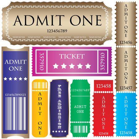 set of ticket admit one Stock Vector - 9083158