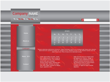 red web site template Stock Vector - 9007001