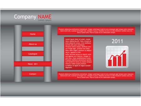 red web site template Vector