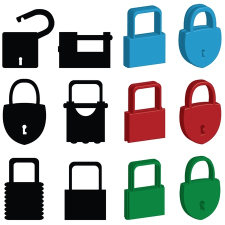 lock icons Stock Vector - 9006933