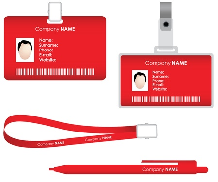 identify: Name tag for id card