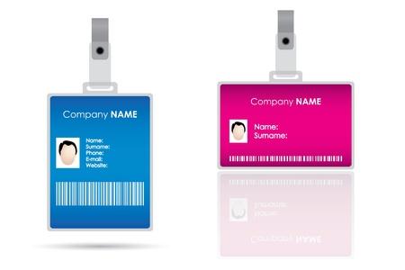 Étiquette de nom pour la carte d'identité Vecteurs
