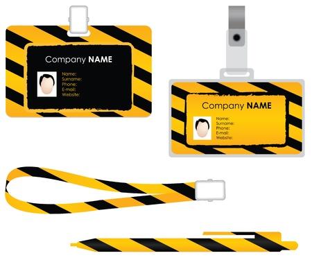personal identity: Etiqueta de nombre para la tarjeta de identificaci�n - dise�o especial Vectores