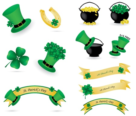 St. Patrick's day icons and banners Stock Vector - 9023283