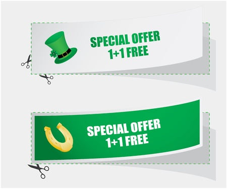 gratuity: special labels for St. Patricks Day