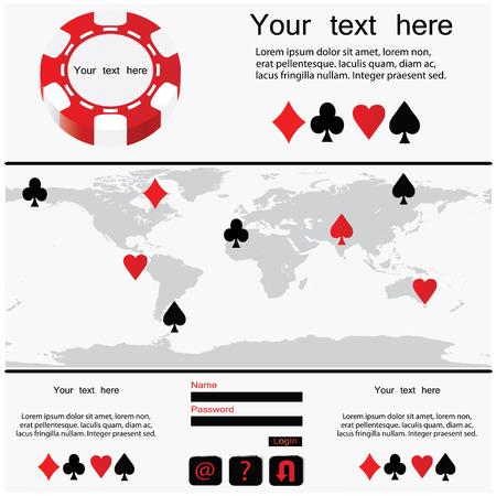 poker design - website template Vector