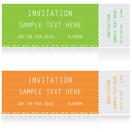 tickets: Illustration of two tickets