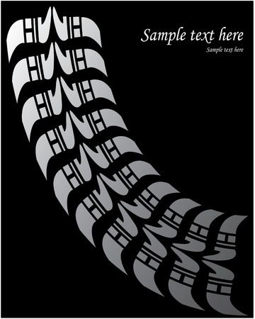 off road vehicle: Tire print - Vector