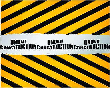 Under construction for internet web page Vector