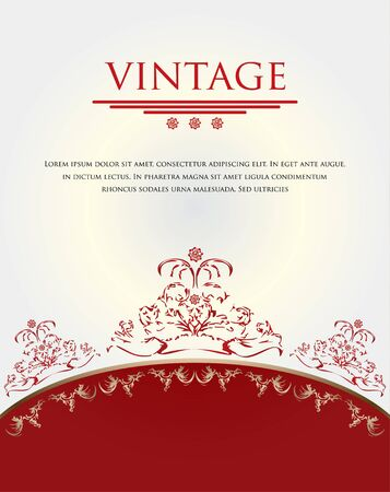 red-white vintage background Vector