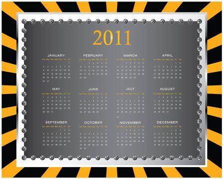 2011 calendar with special design Vector