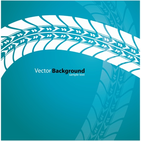 tyre tread: vector background - special tire design