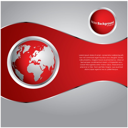red sphere: special red background