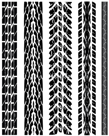 Vector tire tracks Illustration