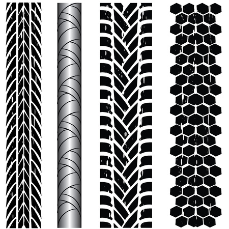 Print various automobile tyres Vector