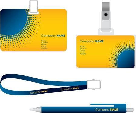 latch: Name tag for id card