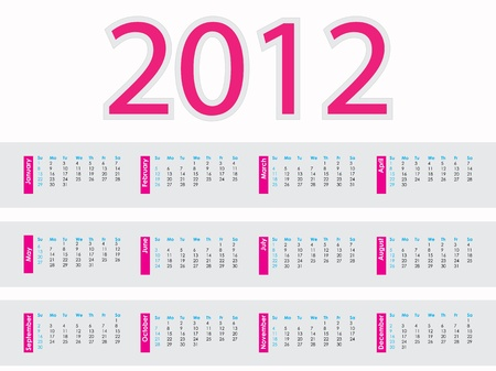 calendar design: calendar design 2012