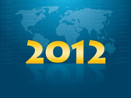 New Years card 2012 Vector
