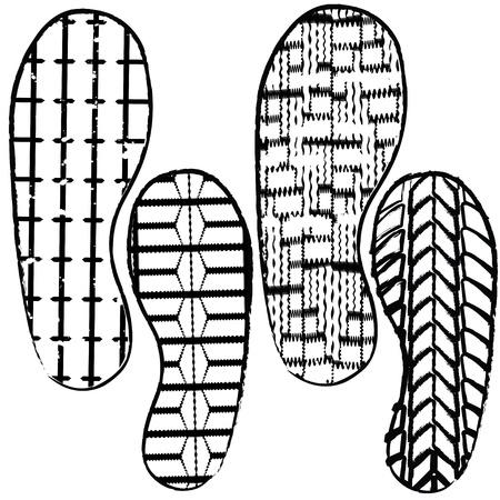 shoe prints Stock Vector - 9417225