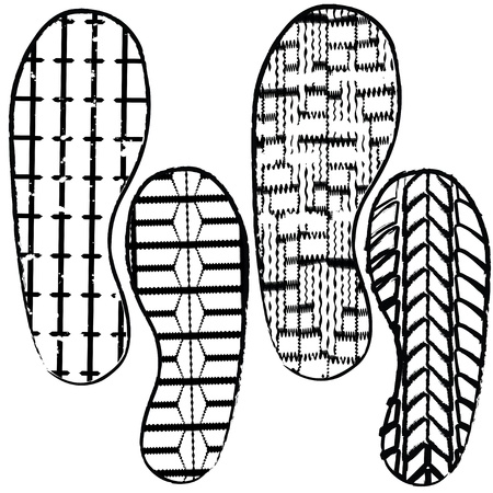 shoe prints Stock Vector - 9417225