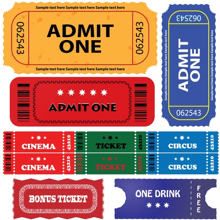 tickets in different styles Stock Vector - 9417227