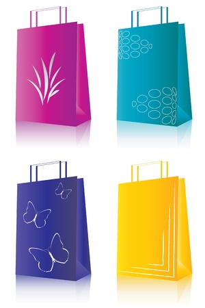Set of 4 shopping package Vector