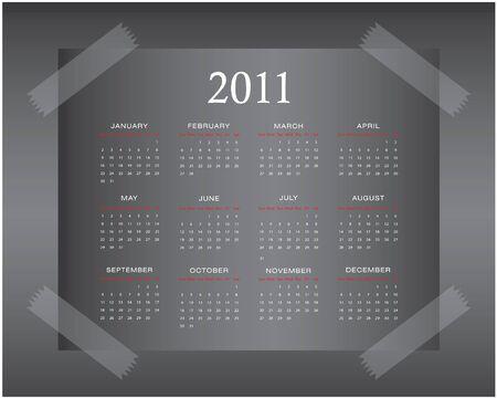 Calendar Design 2011 Vector
