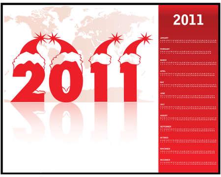 calendar 2011 Stock Vector - 9775587
