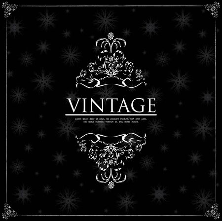victorian: special vintage background with snowflakes