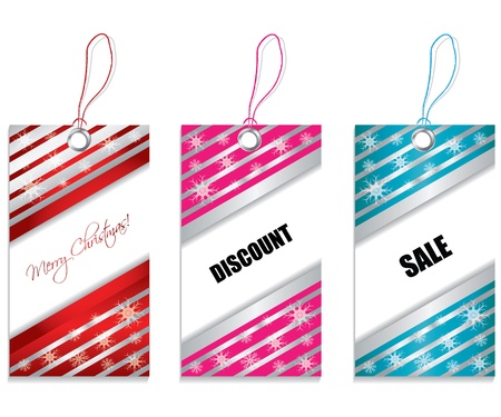 colored price tags Vector