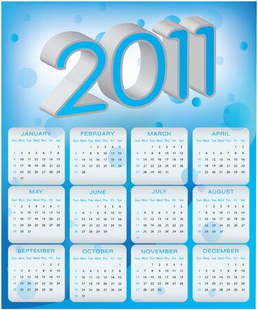 Calendar design 2011 Stock Vector - 9775597