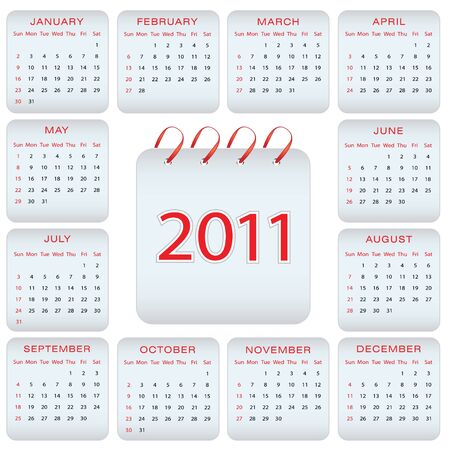 calendar design: calendar design - 2011 Illustration