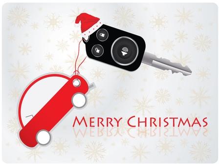 schlosser: autoschl�ssel mit Remote - Weihnachts-Geschenk Illustration