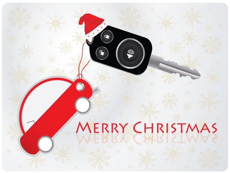car key with remote - Christmas gift Stock Vector - 9535773