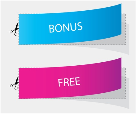 largess: bonus and free labels Illustration