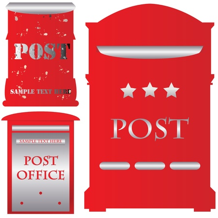 Red mailboxes Vector