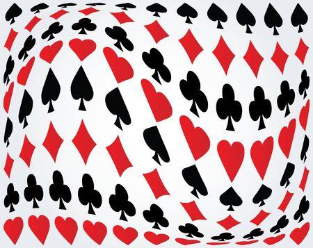 Seamless poker background Stock Vector - 9438166