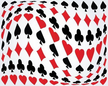 Seamless poker background Stock Vector - 9438166